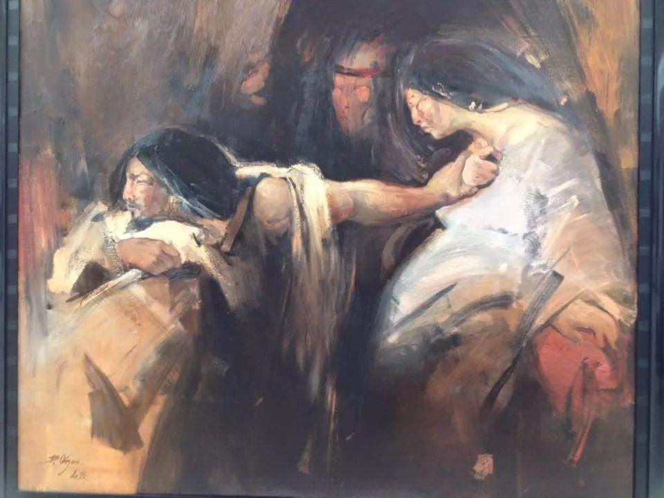 蒙古青年艺术家Otgontuvden油画作品欣赏 第9张 蒙古青年艺术家Otgontuvden油画作品欣赏 蒙古画廊