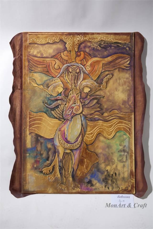 【美图】蒙古国皮画家艺术家吉雅图作品欣赏 第6张 【美图】蒙古国皮画家艺术家吉雅图作品欣赏 蒙古画廊