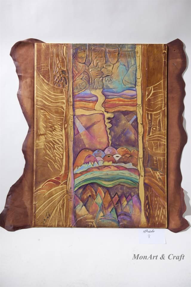 【美图】蒙古国皮画家艺术家吉雅图作品欣赏 第7张 【美图】蒙古国皮画家艺术家吉雅图作品欣赏 蒙古画廊
