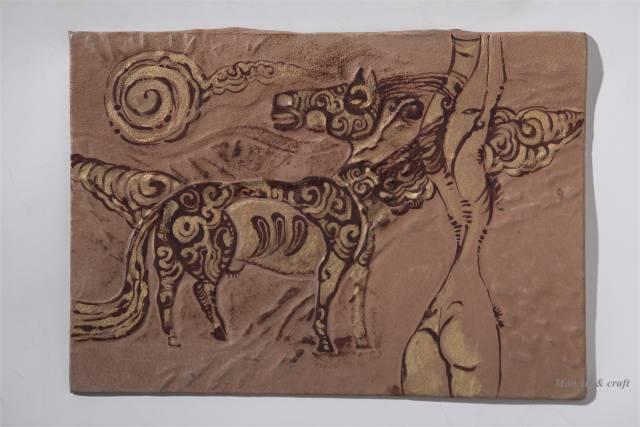 【美图】蒙古国皮画家艺术家吉雅图作品欣赏 第12张 【美图】蒙古国皮画家艺术家吉雅图作品欣赏 蒙古画廊