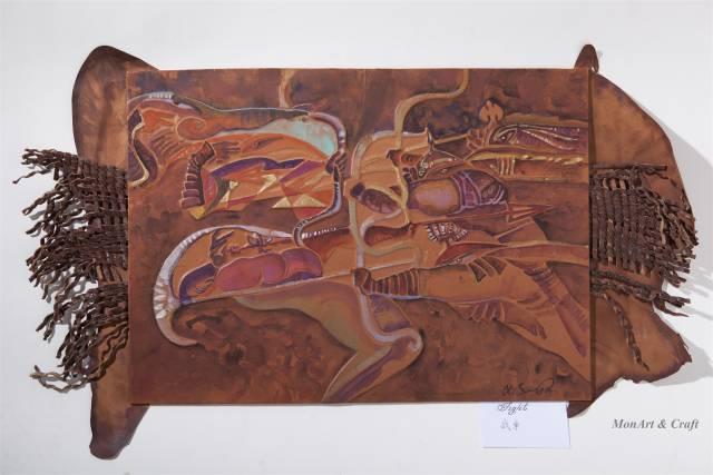 【美图】蒙古国皮画家艺术家吉雅图作品欣赏 第10张 【美图】蒙古国皮画家艺术家吉雅图作品欣赏 蒙古画廊