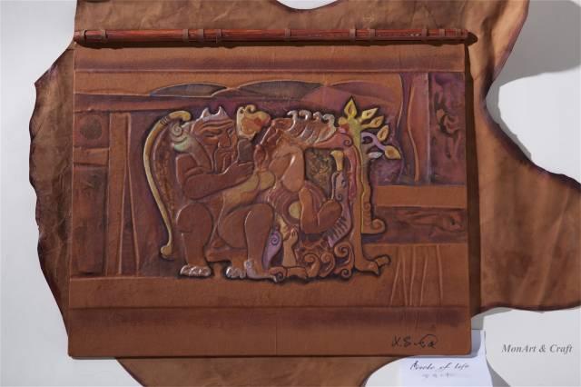 【美图】蒙古国皮画家艺术家吉雅图作品欣赏 第16张 【美图】蒙古国皮画家艺术家吉雅图作品欣赏 蒙古画廊