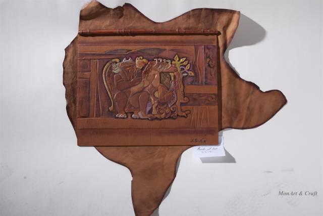 【美图】蒙古国皮画家艺术家吉雅图作品欣赏 第15张 【美图】蒙古国皮画家艺术家吉雅图作品欣赏 蒙古画廊