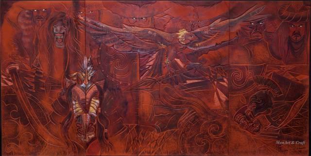 【美图】蒙古国皮画家艺术家吉雅图作品欣赏 第30张 【美图】蒙古国皮画家艺术家吉雅图作品欣赏 蒙古画廊