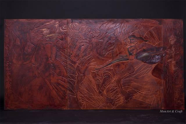 【美图】蒙古国皮画家艺术家吉雅图作品欣赏 第31张 【美图】蒙古国皮画家艺术家吉雅图作品欣赏 蒙古画廊