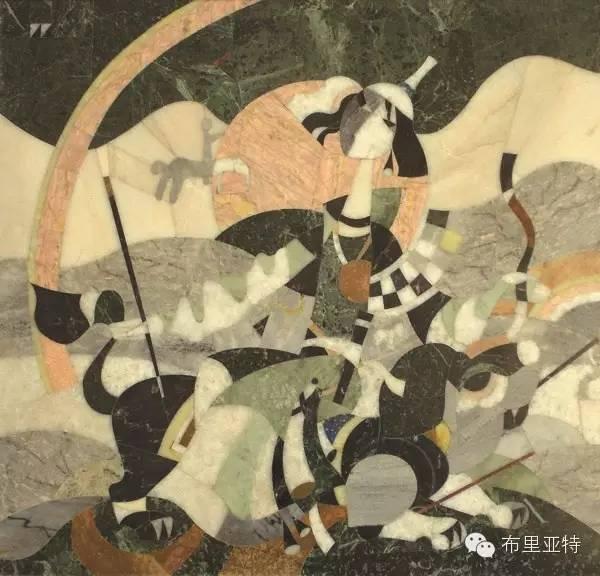 刚在蒙古办展览的布里亚特艺术家尤里作品欣赏 第2张