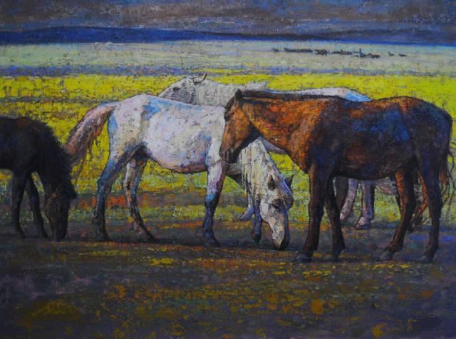 【蒙古图片】这位蒙古族画家,用油画记录蒙古的风土人情,美醉了! 第10张