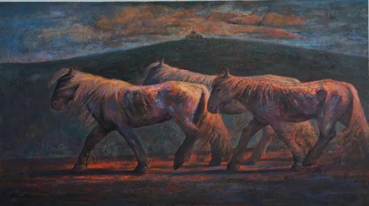 【蒙古图片】这位蒙古族画家,用油画记录蒙古的风土人情,美醉了! 第15张