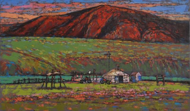 【蒙古图片】这位蒙古族画家,用油画记录蒙古的风土人情,美醉了! 第19张