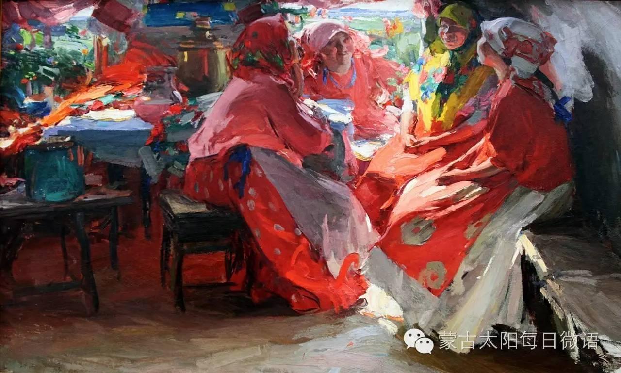 一个蒙古人眼中的欧洲  第32章 世界著名蒙古族画家费岳达尔•卡尔梅克 第29张 一个蒙古人眼中的欧洲  第32章 世界著名蒙古族画家费岳达尔•卡尔梅克 蒙古画廊