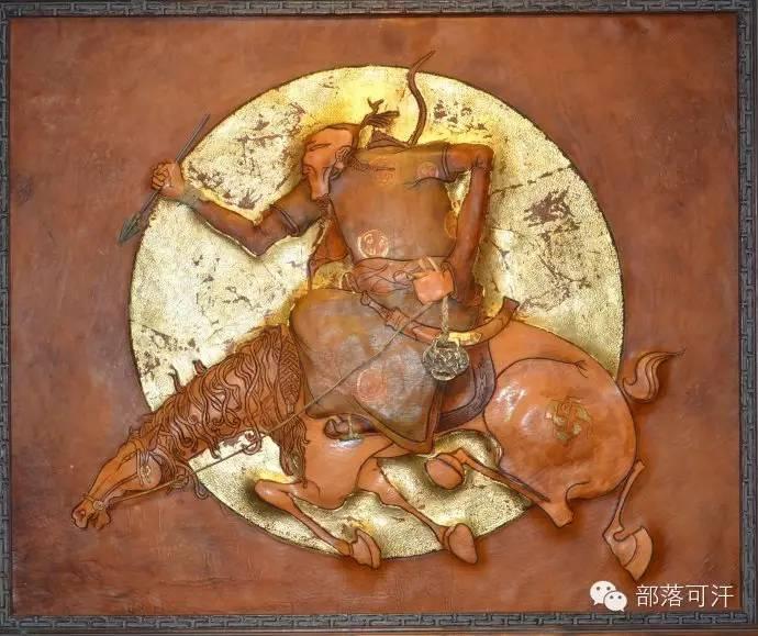 蒙古族皮画皮雕艺术欣赏 第4张 蒙古族皮画皮雕艺术欣赏 蒙古工艺