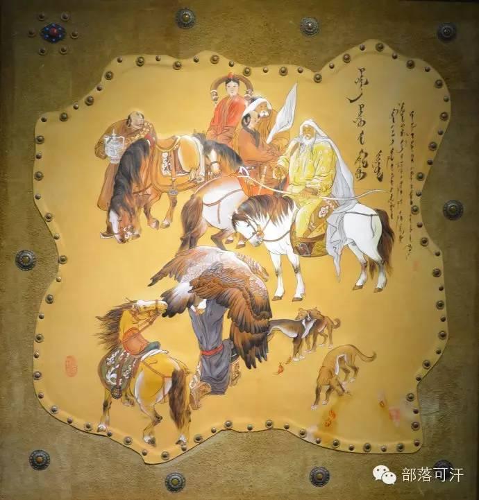 蒙古族皮画皮雕艺术欣赏 第5张 蒙古族皮画皮雕艺术欣赏 蒙古工艺
