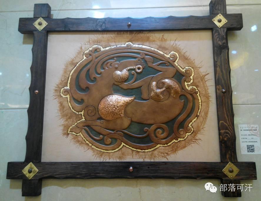 蒙古族皮画皮雕艺术欣赏 第11张 蒙古族皮画皮雕艺术欣赏 蒙古工艺