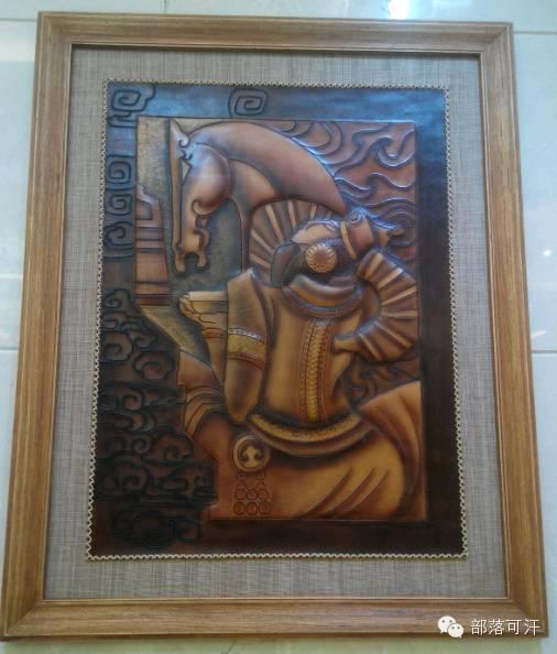 蒙古族皮画皮雕艺术欣赏 第13张 蒙古族皮画皮雕艺术欣赏 蒙古工艺