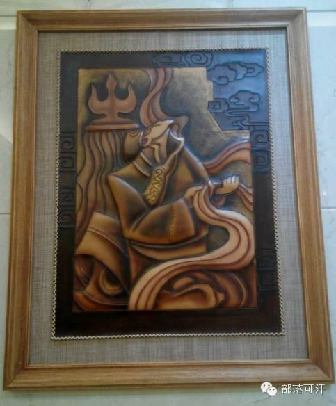 蒙古族皮画皮雕艺术欣赏 第14张 蒙古族皮画皮雕艺术欣赏 蒙古工艺