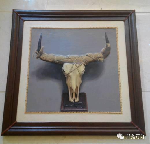 蒙古族皮画皮雕艺术欣赏 第18张 蒙古族皮画皮雕艺术欣赏 蒙古工艺