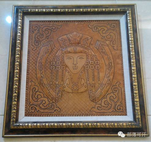 蒙古族皮画皮雕艺术欣赏 第23张 蒙古族皮画皮雕艺术欣赏 蒙古工艺