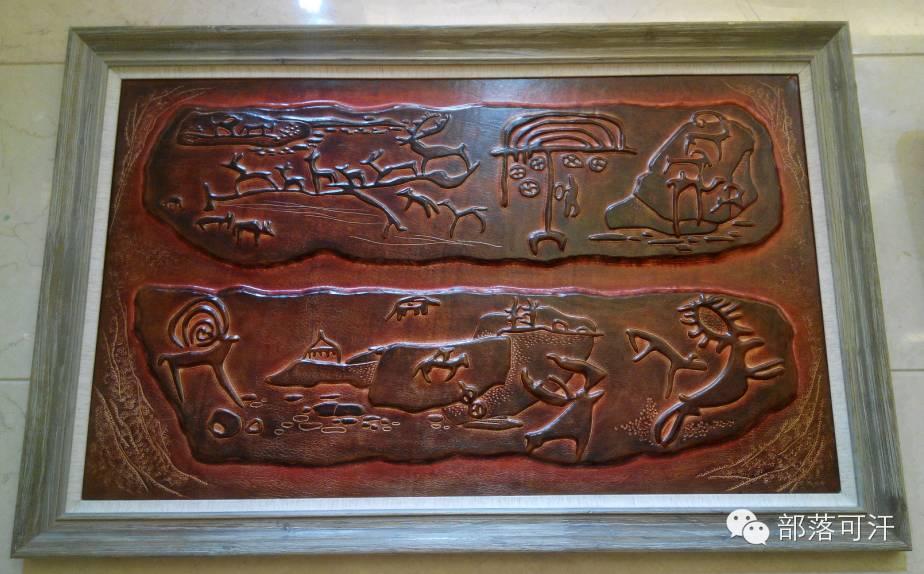蒙古族皮画皮雕艺术欣赏 第21张 蒙古族皮画皮雕艺术欣赏 蒙古工艺