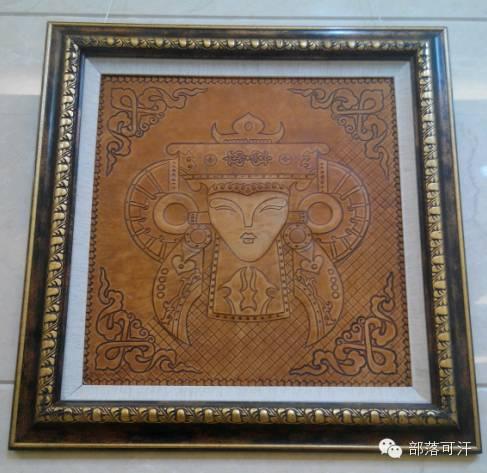 蒙古族皮画皮雕艺术欣赏 第24张 蒙古族皮画皮雕艺术欣赏 蒙古工艺