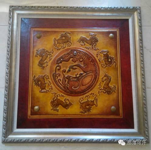 蒙古族皮画皮雕艺术欣赏 第28张 蒙古族皮画皮雕艺术欣赏 蒙古工艺