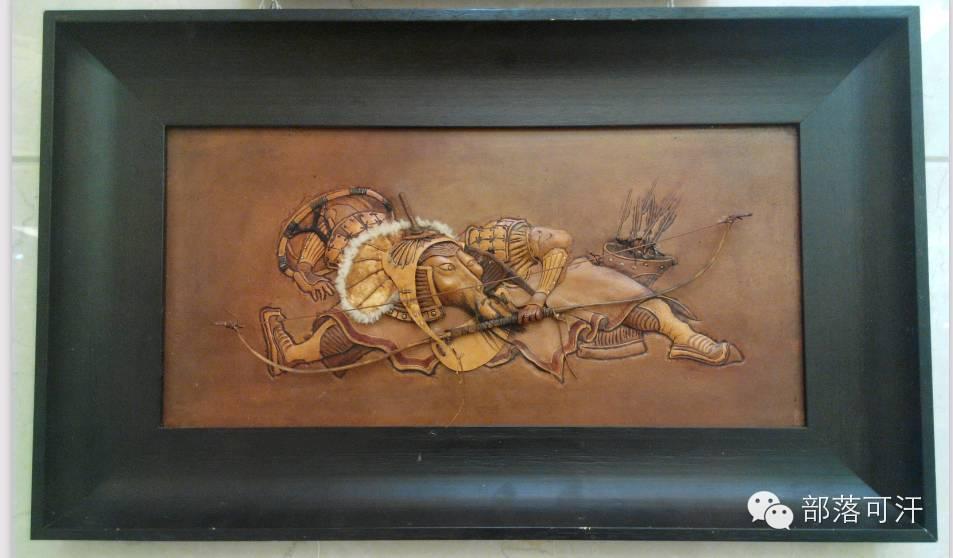 蒙古族皮画皮雕艺术欣赏 第27张 蒙古族皮画皮雕艺术欣赏 蒙古工艺