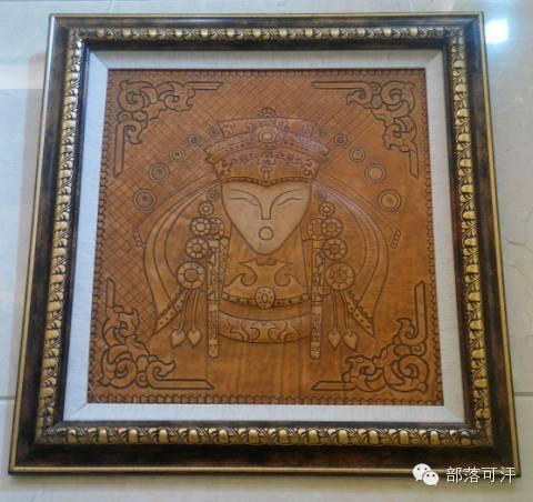 蒙古族皮画皮雕艺术欣赏 第25张