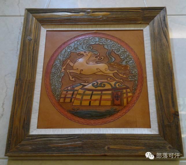 蒙古族皮画皮雕艺术欣赏 第34张 蒙古族皮画皮雕艺术欣赏 蒙古工艺