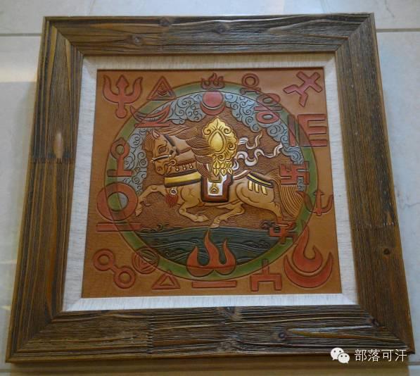 蒙古族皮画皮雕艺术欣赏 第33张 蒙古族皮画皮雕艺术欣赏 蒙古工艺