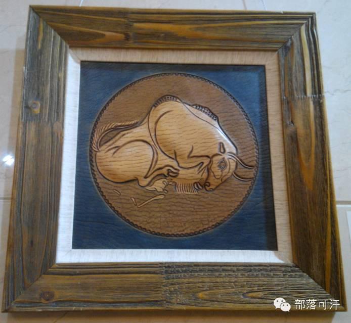 蒙古族皮画皮雕艺术欣赏 第36张 蒙古族皮画皮雕艺术欣赏 蒙古工艺