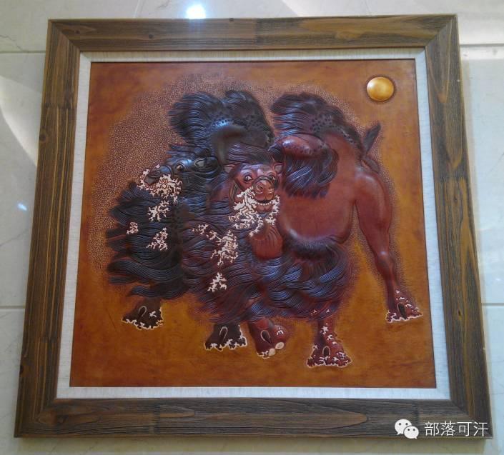 蒙古族皮画皮雕艺术欣赏 第38张
