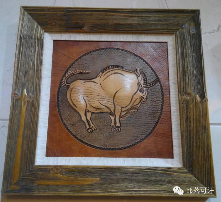 蒙古族皮画皮雕艺术欣赏 第37张