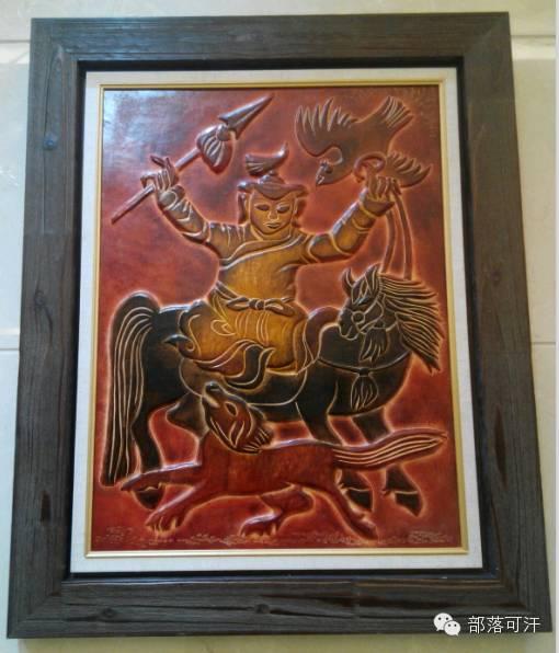蒙古族皮画皮雕艺术欣赏 第41张