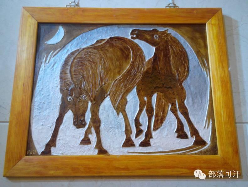 蒙古族皮画皮雕艺术欣赏 第47张 蒙古族皮画皮雕艺术欣赏 蒙古工艺