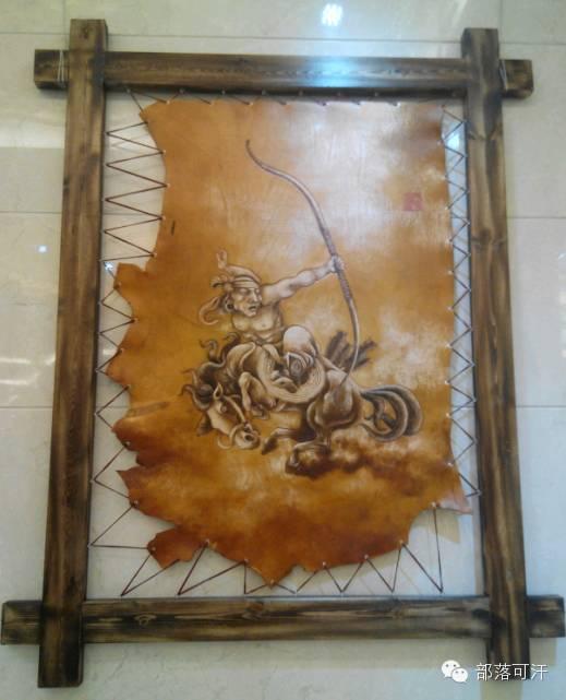 蒙古族皮画皮雕艺术欣赏 第45张 蒙古族皮画皮雕艺术欣赏 蒙古工艺