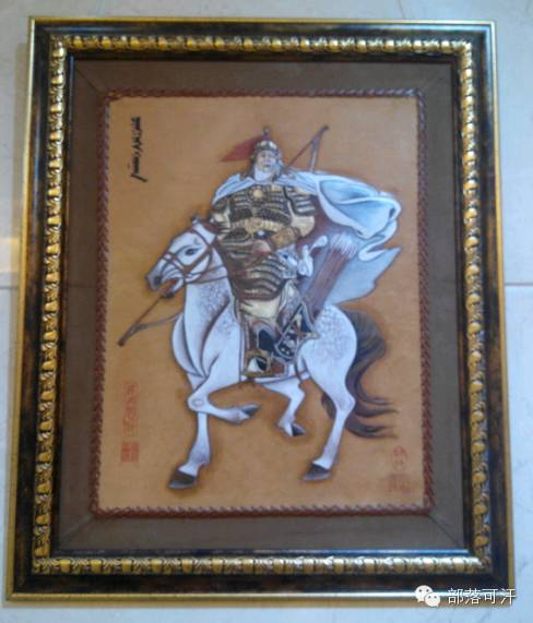 蒙古族皮画皮雕艺术欣赏 第48张 蒙古族皮画皮雕艺术欣赏 蒙古工艺