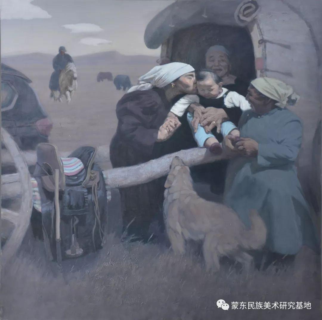 朝鲁门油画作品——中国少数民族美术促进会,蒙东民族美术研究基地画家系列 第1张