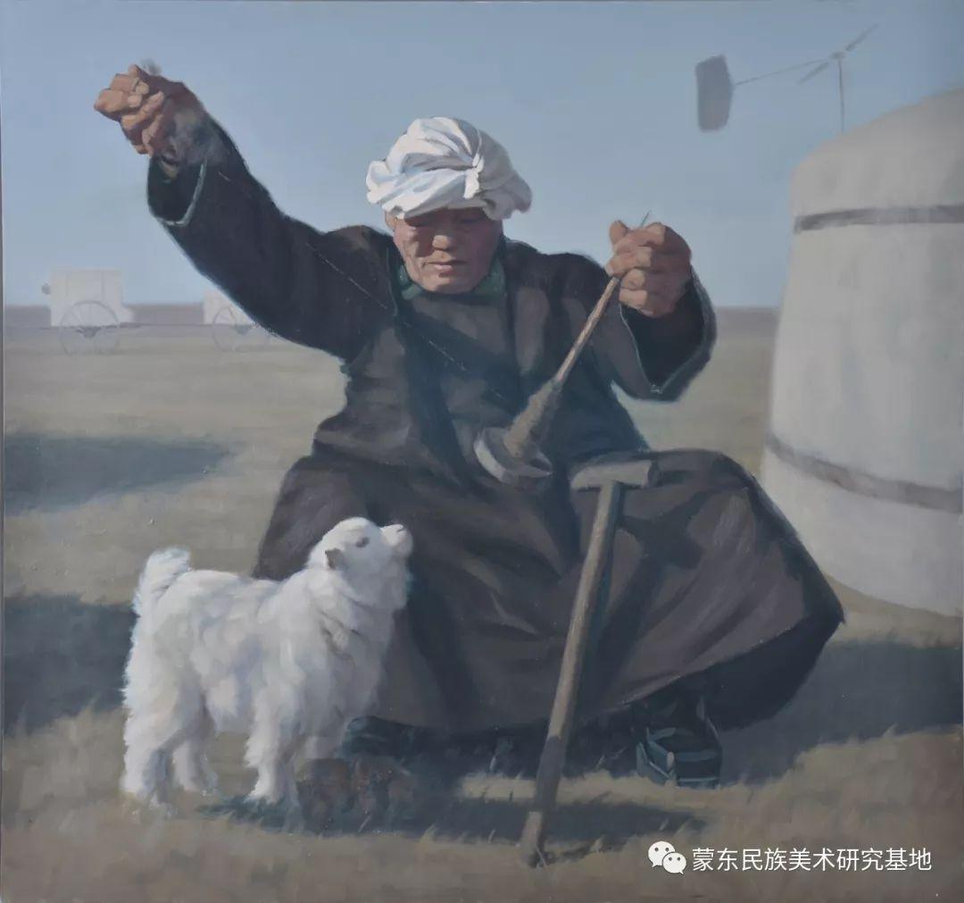 朝鲁门油画作品——中国少数民族美术促进会,蒙东民族美术研究基地画家系列 第2张