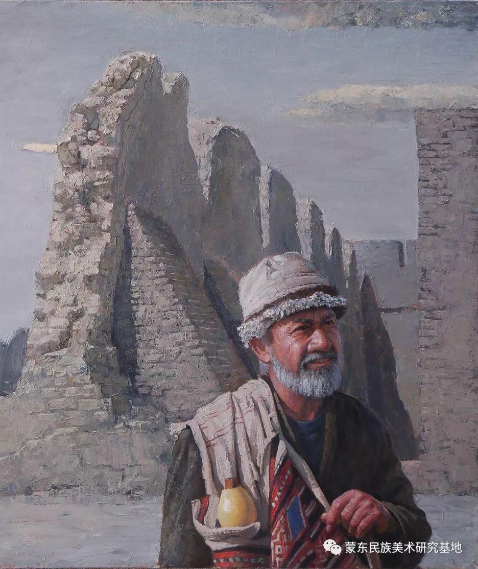朝鲁门油画作品——中国少数民族美术促进会,蒙东民族美术研究基地画家系列 第7张