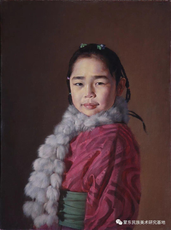 朝鲁门油画作品——中国少数民族美术促进会,蒙东民族美术研究基地画家系列 第6张