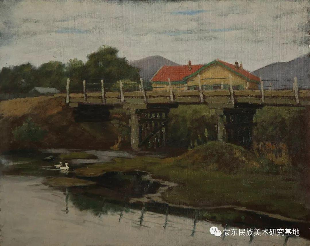 朝鲁门油画作品——中国少数民族美术促进会,蒙东民族美术研究基地画家系列 第9张