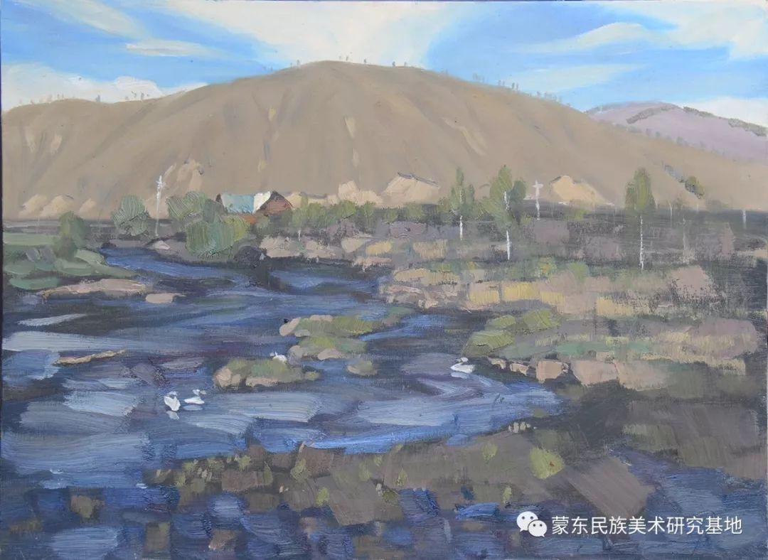 朝鲁门油画作品——中国少数民族美术促进会,蒙东民族美术研究基地画家系列 第11张