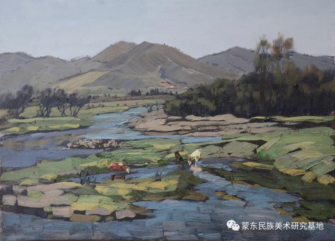 朝鲁门油画作品——中国少数民族美术促进会,蒙东民族美术研究基地画家系列 第12张