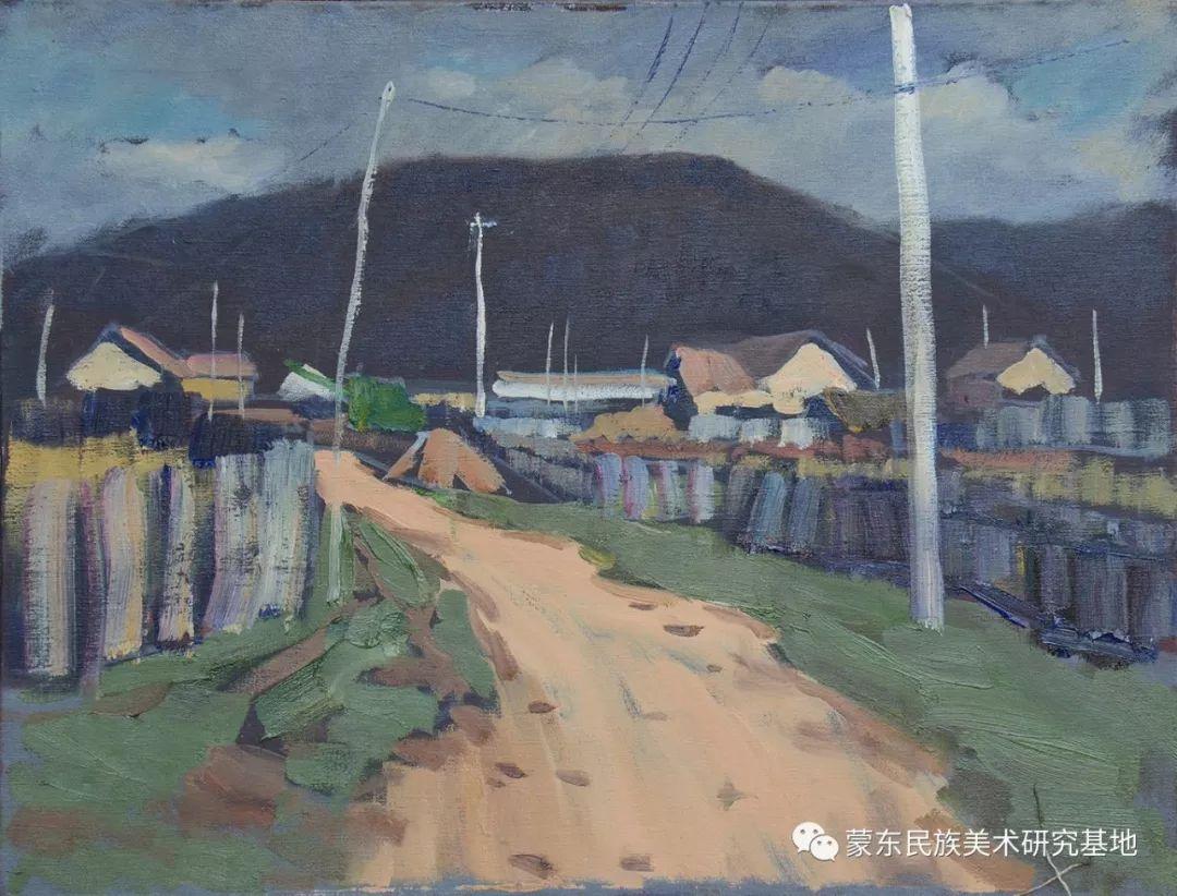 朝鲁门油画作品——中国少数民族美术促进会,蒙东民族美术研究基地画家系列 第13张