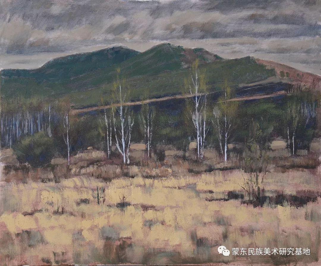 朝鲁门油画作品——中国少数民族美术促进会,蒙东民族美术研究基地画家系列 第15张