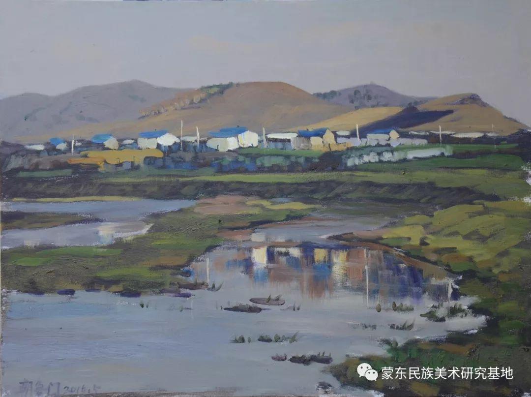 朝鲁门油画作品——中国少数民族美术促进会,蒙东民族美术研究基地画家系列 第16张
