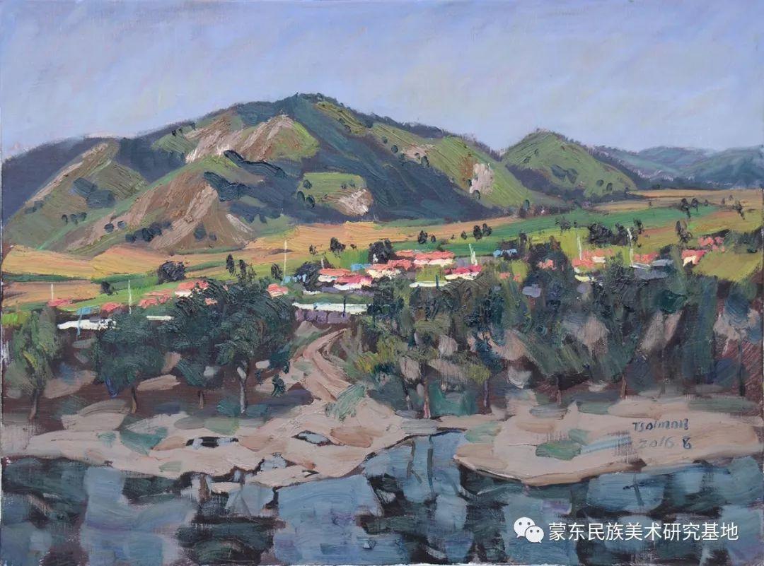 朝鲁门油画作品——中国少数民族美术促进会,蒙东民族美术研究基地画家系列 第17张