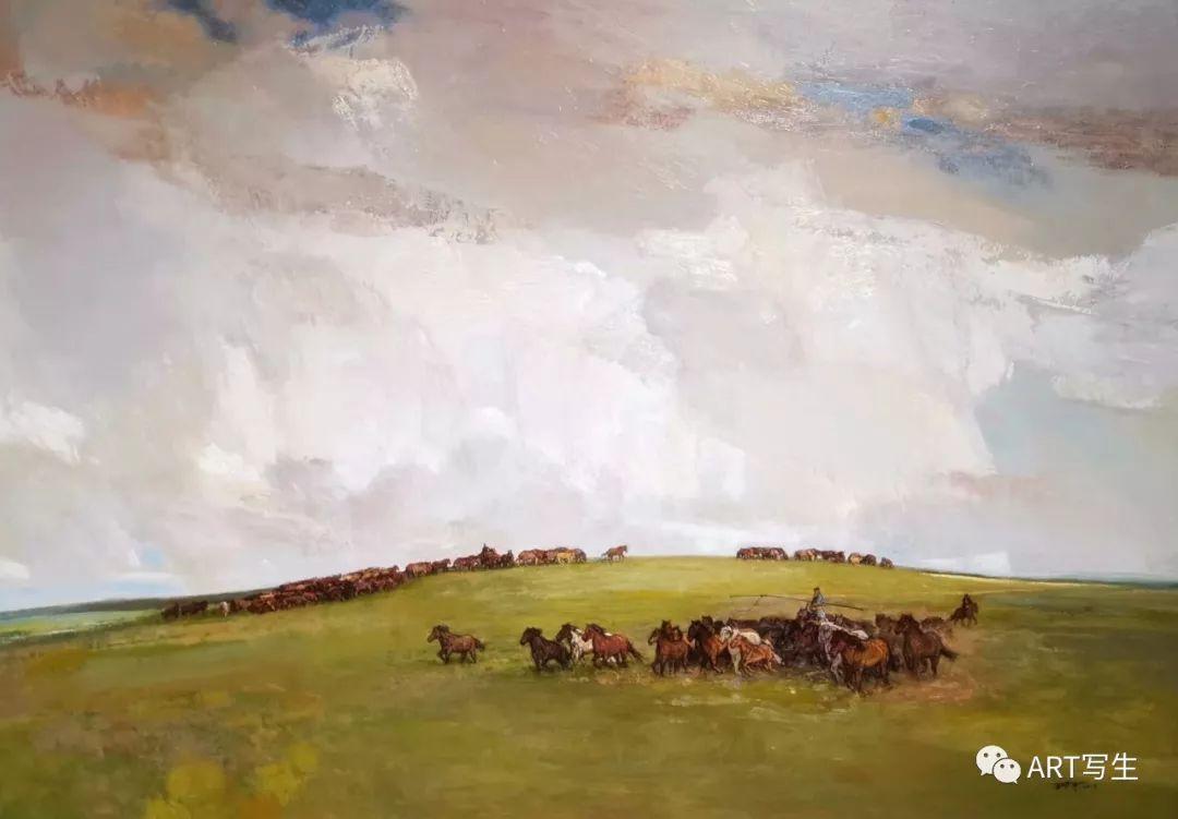 第十三届内蒙古自治区美术作品展览(油画作品) 第22张