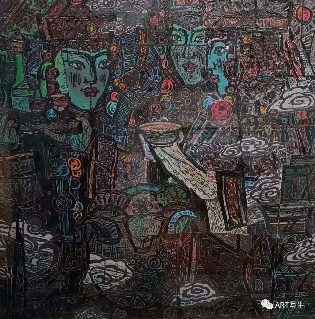 第十三届内蒙古自治区美术作品展览(油画作品) 第44张