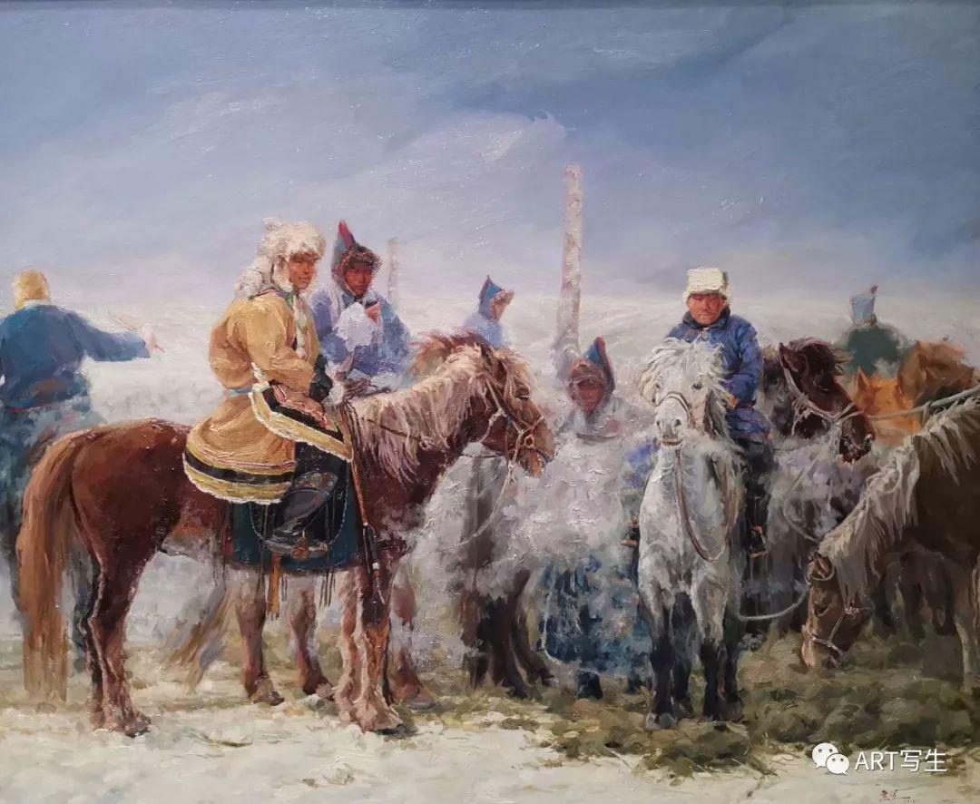第十三届内蒙古自治区美术作品展览(油画作品) 第95张