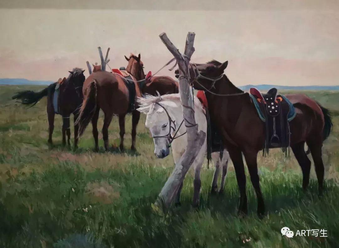 第十三届内蒙古自治区美术作品展览(油画作品) 第110张